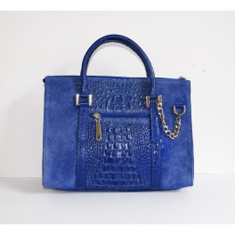 "SAC A MAIN EN CUIR ""CROCO"""